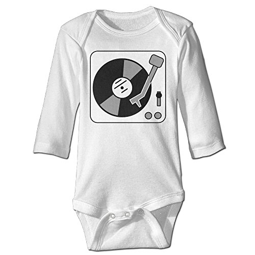 Price comparison product image Turntable Music Vinyl Record Dj Boys Girls Baby Onesie Bodysuit Long Sleeve