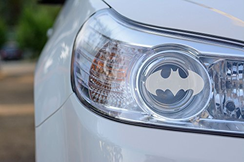 Custom Headlight Decal - Bat (Etched Glass)