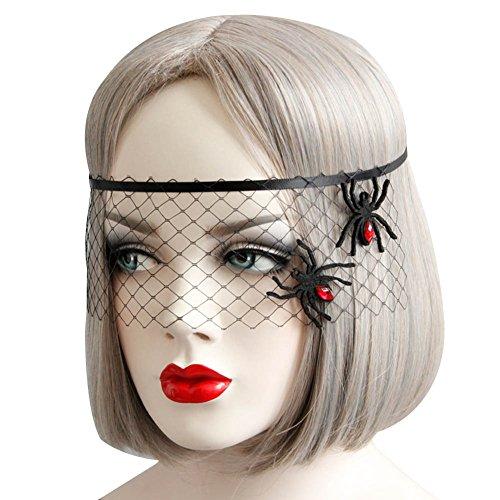 Song Qing Womens Halloween Mask Masquerade Fancy Dress Party Lace Eye Masks Veil Headwear