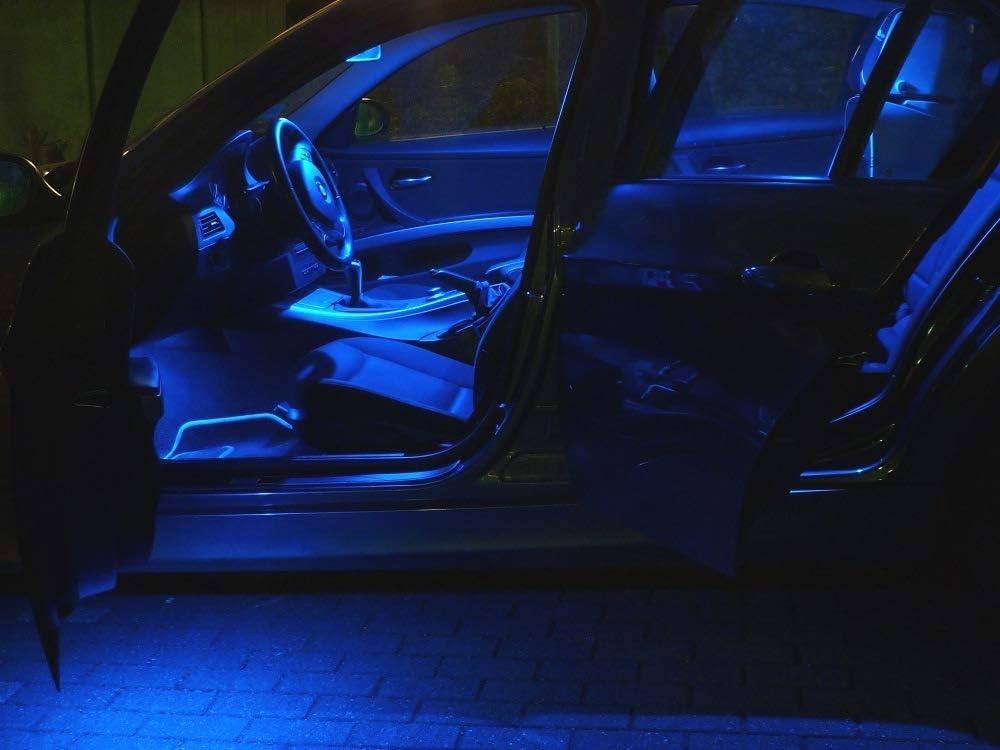 E53 18x Lampes Led /Éclairage Int/érieur Bleu Package Lumi/ère pour X5