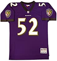 Baltimore Ravens Ray Lewis Mitchell & Ness Throwback Replica Jersey