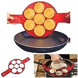 Takestop® Molde de silicona para pancakes Cocina tortitas antiadherente sartén tortilla