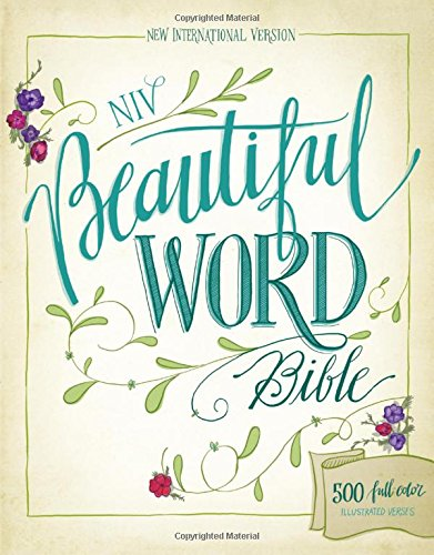 Coloring Books for Seniors: Including Books for Dementia and Alzheimers - NIV, Beautiful Word Bible, Hardcover: 500 Full-Color Illustrated Verses