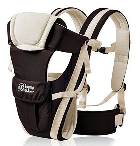 2016 Updated 0-30 Months Multifunction Front Facing Baby Carrier Infant Sling Backpack Pouch Wrap Baby Kangaroo With Waist Belt (Beige (Mommy And Baby Kangaroo Halloween Costumes)