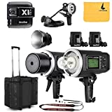 GODOX AD600BM Sync 1 / 8000s 2.4G 2Pcs Wireless Flash Speedlite,GODOX X1T-C Wireless Flash Trigger,GODOX AD-H1200B Hand-Held Extension Extra Head Bowens Mount for Godox AD600B AD600BM Flash Strobe