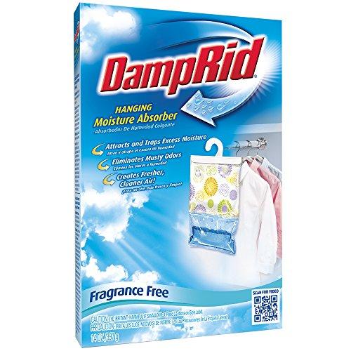 DampRid FG80FF Fragrance Free Hanging Moisture Absorber