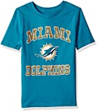 "OuterStuff NFL Youth Boys""Gridiron Hero"" Short Sleeve Tee-Aqua-XL(18), Miami Dolphins"