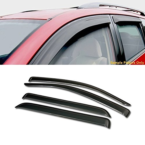VXMOTOR Curved Style Sun/Rain Guard Smoke Vent Shade Deflector Window Visors 4PC For 2008-2017 Toyota - Sequoia Vent Toyota