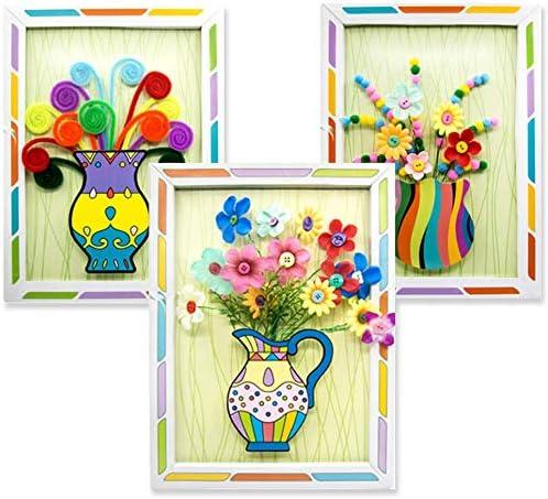 Button Bouquet Children Educational Toys DIY Holding Flowers Handmade Gift