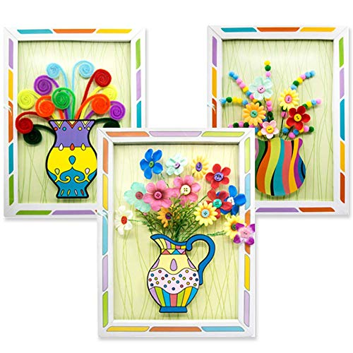 Senbos Kids DIY Craft Kits 3D Picture Frame Flower Pressed Kits Preschool Handmade Art and Crafts Kits Parent-Child…