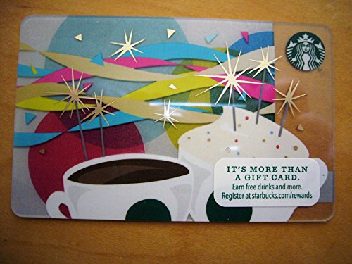 Starbucks 2013 Celebration,ribbons, Candles,stars Collector Gift Card