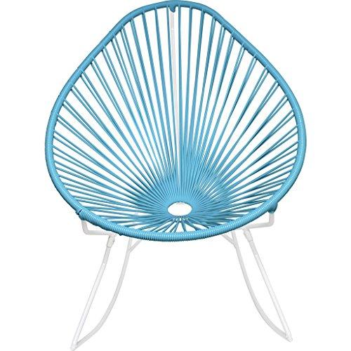 Innit Designs Junior Acapulco Rocker Chair | White/Powder Blue (Acapulco Furniture)