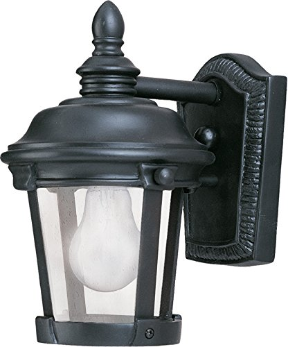 Maxim 3026CDBZ Dover Cast 1-Light Outdoor Wall Lantern, Bronze Finish, Seedy Glass, MB Incandescent Incandescent Bulb , 100W Max., Dry Safety Rating, Standard Dimmable, Glass Shade Material, 5750 Rated Lumens