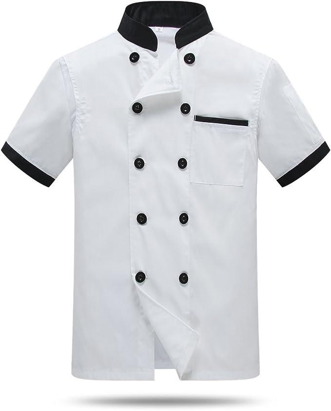 Cocina Uniforme Camisa de Cocinero Manga Corta La Red de Espalda y axila: Amazon.es: Ropa y accesorios