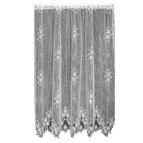 - Heritage Lace Tea Rose 60-Inch Wide by 84-Inch Drop Panel, Ecru