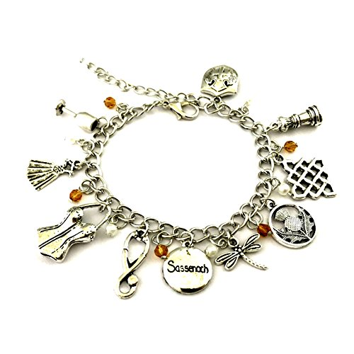 J&C Family Owned Brand The Outlander TV Series Charms Lobster Clasp Bracelet w/Gift Box