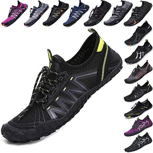 Mens Women Water Sport Shoes Barefoot Quick-Dry Aqua Socks for Beach Swim Surf Yoga Exercise, 11.5 M US Women / 10 M US Men