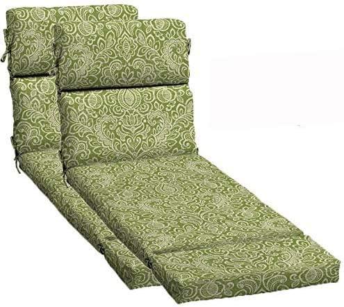 Comfort Classics Inc. Set of 2 Outdoor Green Stencil Damask Standard Patio Chair Cushion