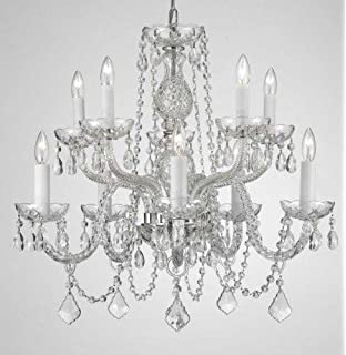 Murano venetian style crystal wall sconce lighting chandeliers chandelier lighting crystal chandeliers h25 x w24 10 lights aloadofball Image collections