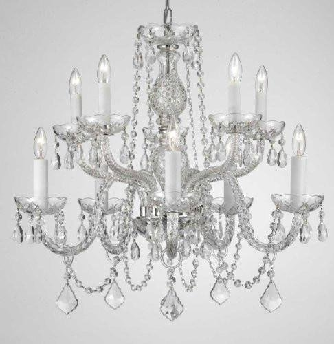 Chandelier Made with Swarovski Crystal! Chandelier Chandeliers Lighting Dressed with Swarovski Crystal! H 25