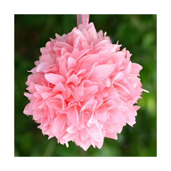 Efavormart 4 PCS Dahlia Silk Flower Balls for DIY Wedding Bouquets Centerpieces Arrangements Home Decorations Wholesale – Pink