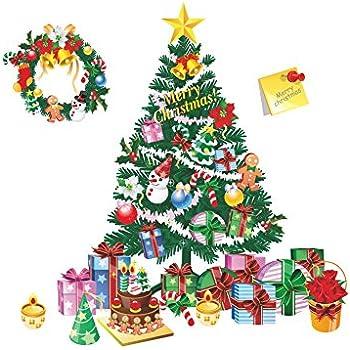 amazon com diy christmas window stickers decorations merry xmas