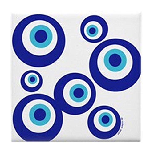 CafePress - Mod Evil Eyes Tile Coaster - Tile Coaster, Drink Coaster, Small Trivet - Mod Evil Eyes