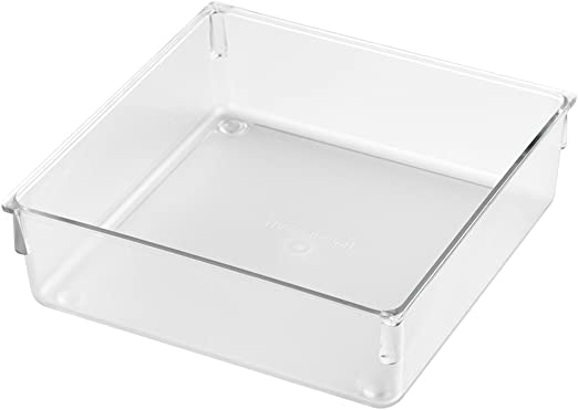 InterDesign  12 in L x 6 in W x 2 in H Clear  Plastic  Drawer Organizer