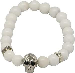Bracelet Made Of Agate Stone, 16Cm, Unisex, White