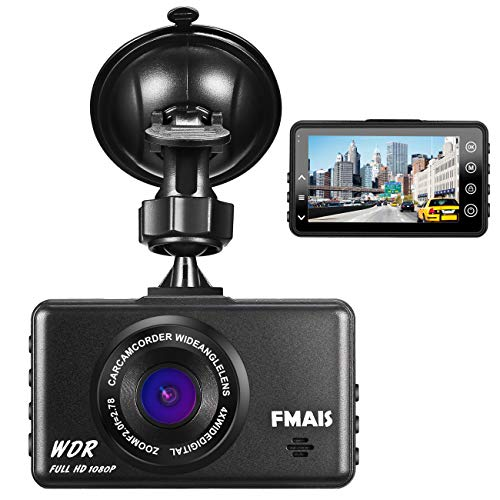 Dash Cam 1080P, FAMIS Full HD Car DVR Driving Recorder Dashboard Camera with 3″ LCD Screen, G-Sensor, WDR, Loop Recording and Motion Detection