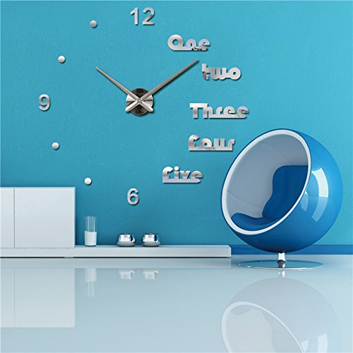 Amazon.com: Suatimn Wall Clock Design Reloj De Pared Quartz Watch Large Decorative DIY Clocks Modern Living Room Acrylic 3D Stickers Letter Dark Gray: Home ...