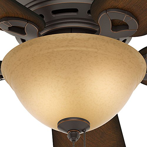 Hunter 51023 Conroy 42-Inch Onyx Bengal Ceiling Fan with Five Burnished Mahogany Blades and a Light Kit by Hunter Fan Company (Image #5)