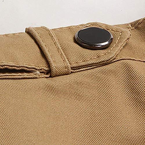 Comode Comode Cerniera Cappotto Tasche Caldo Capispalla Uomo Outwear Cappotto Cappotto da Khaki fashion Invernale Laterali Giacca Lungo con HX Taglie Trench Abiti Cappotto wWO4Pqzn1