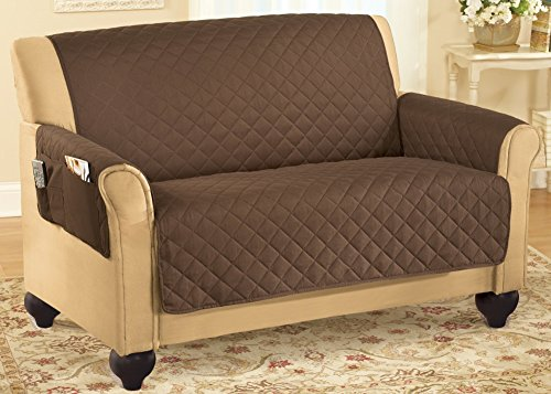 Quilted Furniture Cover With Side Pockets Chocolate Sofa, Chocolate, Sofa (Cheap Furniture Sales)