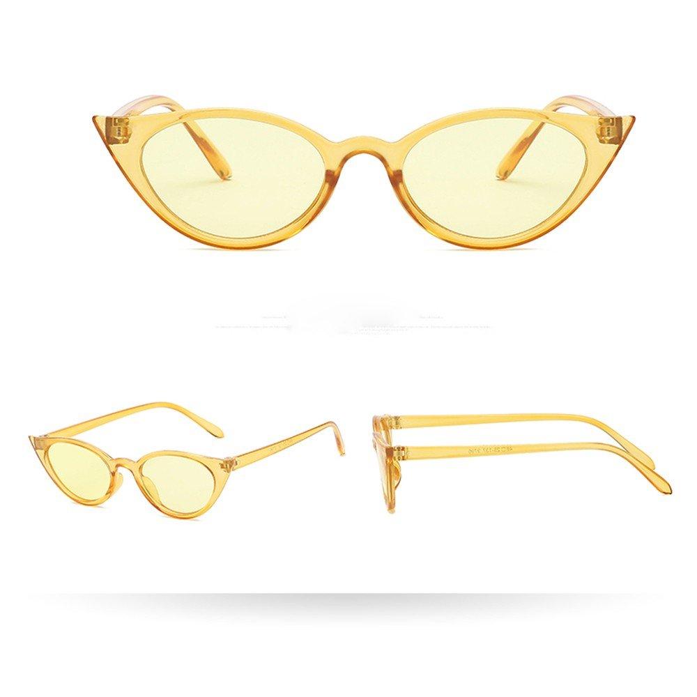 JYS Fashion Cat Eye Sunglasses Unisex Retro Wide Frame Rapper Sun Glasses UV Protection Lightweight Sun Eye Glasses