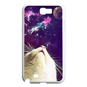 Galaxy Hipster Cat Customized Cover Case for Samsung Galaxy Note 2 N7100,custom phone case ygtg550601