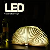 4 color LED Foldable USB Book Style Creative Night Light (Brown)