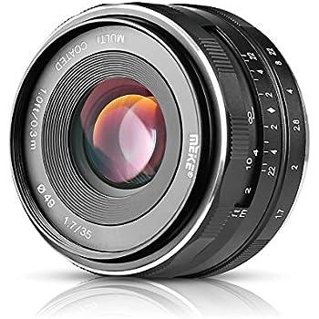 Meike MK-E-35-1.7 35mm F1.7 Large Aperture Manual Prime Fixed Lens APS-C for Sony E-Mount Digital Mirrorless Cameras NEX 3 NEX 3N NEX 5 NEX 5T NEX 5R NEX 6 7 A5000, A5100, A6000, A6100,A6300 A6500 A9