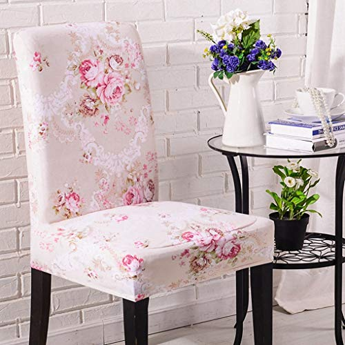 2Pc Chair Cover Soft Stretch Chair Decor Dining Room Banquet Stool Slipcover Hotel Wedding Banquet Print Seat