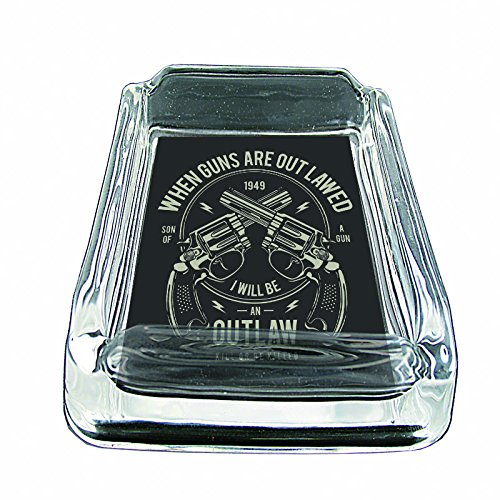Glass Square Ashtray for outdoor With Four Places to Drop Your Cigarette| Thick and Transparent Glass Tray |Glass Ashtray Stand |Glass Ashtray Set| Glass Ashtray for Home| - Glasses Safety Outlaw