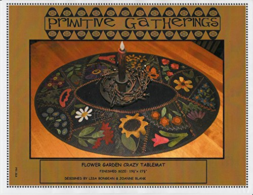 Table Mat Wool Applique Pattern by Lisa Bongean from Primitive Gatherings 19.5