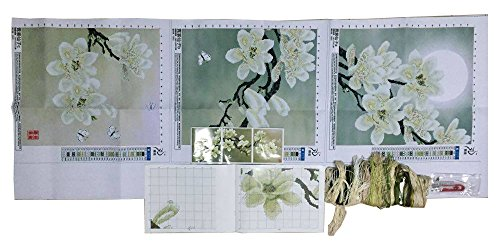 3d White Magnolia Cross Stitch Kit Embroidery Flower Cross-stitch Painting Diy Handmade Kit Needlework Set Wall Home Decor