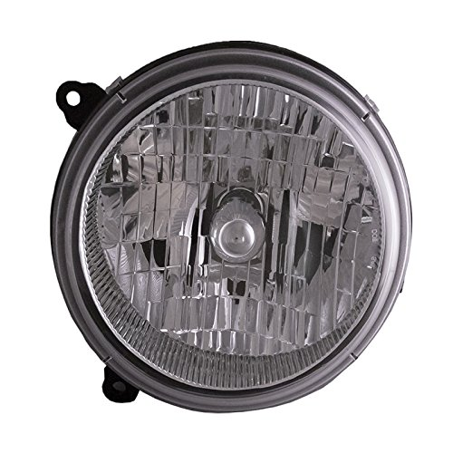 Headlights Depot Replacement for Jeep Liberty Headlight OE Style Replacement Headlamp Right Passenger Side (2002 Jeep Liberty Headlight)