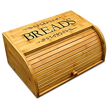 Cookbook People Bamboo Roll Top Bread Box