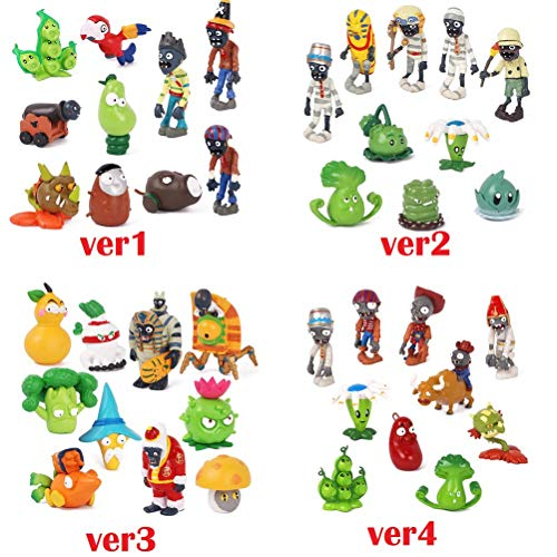 1 Version Plants Vs Zombies PVC Action Figures Toy PVZ Plant + Zombies Collection Figures Toys Best Gifts For Children Kids]()