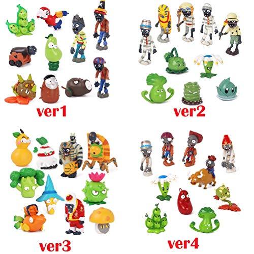 1 Version Plants Vs Zombies PVC Action Figures Toy PVZ Plant + Zombies Collection Figures Toys Best Gifts For Children -