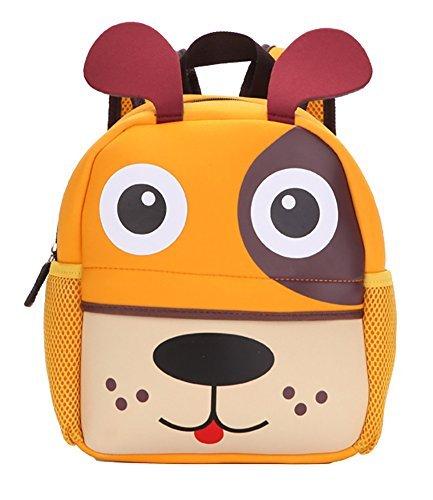 (Lulutus Little Kids Cute Animals Backpack Preschool Bags Waterproof for Toddler Boys Girls,Dog)