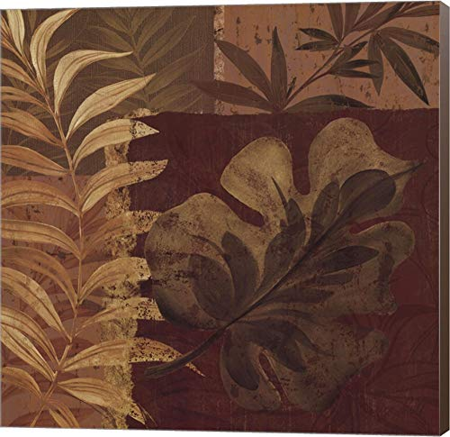 Tropical Foliage I by Pamela Gladding Canvas Art Wall Picture, Museum Wrapped with Brown Sides, 20 x 20 inches