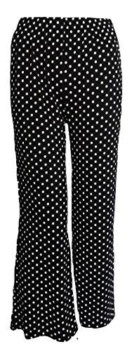 Get The Trend - Pantalón - Lunares - para mujer Black Polka Dot