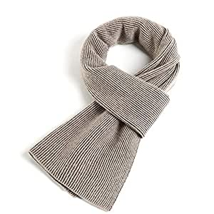 Men's and Women's Knitted Cashmere Scarves, Casual Couple Scarves Men's Winter Warm Soft Knitted Gentleman Scarf with Gift Bag,Khaki